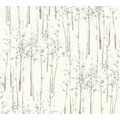 AS Création Vliestapete Scandinavian 2 Tapete mit Baum Muster blau grau weiß 957861 10,05 m x 0,53 m