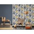 AS Création Vliestapete Scandinavian 2 Tapete mit Blumen floral gelb blau beige 367241 10,05 m x 0,53 m