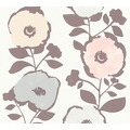 AS Création Vliestapete Scandinavian 2 Tapete mit Blumen floral weiß grau rosa 367242 10,05 m x 0,53 m