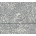 AS Création Vliestapete Sumatra Tapete mit Palmenblättern grau schwarz weiß 373722 10,05 m x 0,53 m
