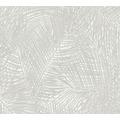 AS Création Vliestapete Sumatra Tapete mit Palmenblättern grau weiß 373713 10,05 m x 0,53 m
