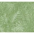 AS Création Vliestapete Sumatra Tapete mit Palmenblättern grün weiß 373715 10,05 m x 0,53 m