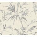 AS Création Vliestapete Sumatra Tapete mit Palmenblättern metallic grau 373765