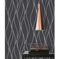 AS Création Vliestapete Trendwall Tapete gestreift grau metallic schwarz 10,05 m x 0,53 m