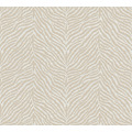 AS Création Vliestapete Trendwall Tapete im Zebra Print beige weiß 371202 10,05 m x 0,53 m