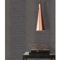 AS Création Vliestapete Trendwall Tapete in Kroko Optik metallic schwarz 10,05 m x 0,53 m