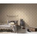 AS Création Vliestapete Trendwall Tapete mit Ornamenten barock metallic weiß 370901 10,05 m x 0,53 m