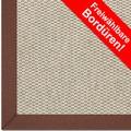 Astra Schurwollteppich Baltimore Col. 02 beige/meliert Wunschmaß Baumwoll Bordüre ohne Fleckenschutz