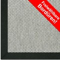 Astra Schurwollteppich Baltimore Col. 40 grau Wunschmaß Baumwoll Bordüre ohne Fleckenschutz