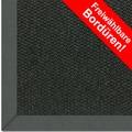 Astra Schurwollteppich Baltimore Col. 44 schwarz Wunschmaß Baumwoll Bordüre ohne Fleckenschutz