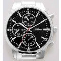 Atlanta 4405 Wanduhr modern im Armbanduhren-Look geräuschlose Uhr