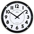 Atlanta 4434 Wanduhr modern extraflache Uhr geräuschlose Uhr