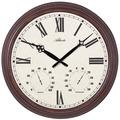 Atlanta 4448 Wanduhr klassisch Außenuhr Gartenuhr mit Thermometer und Hygrometer