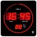 Atlanta 4462 Wanduhr modern Tischuhr modern mit LED-Anzeige