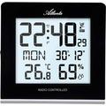 Atlanta 4465 Wanduhr modern Tischuhr modern Wetterstation mit Weckfunktion