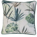 BARBARA Home Collection Kissenhülle Bahia grün 45 x 45 cm