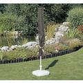 BEO acamp Schutzhülle für Sonnenschirme bis 450cm wasserabweisend, mit Band zum Verschnüren, Maße: 47/64x250 cm anthrazit