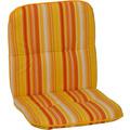 BEO Paspelauflage Niedriglehner feine Streifen gelb-creme-orange M616