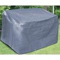 BEO Schutzhülle für Gartenbank 2er Maße: 130x78 cm, Höhe 80cm, starkes Polyestergewebe anthrazit