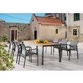 Best Tisch Paros 210x90cm anthrazit/Teakholz Gartentisch