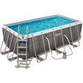 Bestway Power Steel Rectangular Pool Set, 412 x 201 x 122 cm (56722)