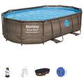 Bestway Power Steel™ Swim Vista Series™ Frame Pool Komplett-Set,  488 x 305 x 107 cm (56946)