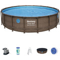 Bestway Power Steel™ Swim Vista Series™ Frame Pool Komplett-Set,  549 x 122 cm (56977)