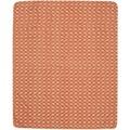 Biederlack Plaid / Decke Wohndecke Ikat Kettelsaum (Nähgarn) + Häkelsaum (Schußgarn) an 4 Seiten 160 x 200 cm