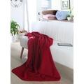 Biederlack Plaid / Decke pure soft rot schmale Einfassung 150 x 200 cm