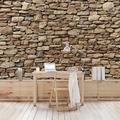 Bilderwelten Vliestapete - Amerikanische Steinwand - Fototapete Breit 190x288cm