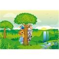 Bilderwelten Vliestapete - Dschungeltiere - Fototapete Breit 190x288cm