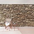 Bilderwelten Vliestapete Premium - Amerikanische Steinwand - Fototapete Breit 190x288cm