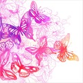 Bilderwelten Vliestapete - Schmetterlingstraum - Fototapete Quadrat 192x192cm