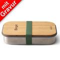 black+blum Sandwich-Box Edelstahl/Bambusholz Olive Grün Brotdose Maße ca. 22,3 x 15 x 5,2 cm NEUES BUNDLE