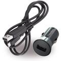 Blackberry USB KFZ Ladegerät + Ladekabel 0,9m - Micro USB - 1000mA - Schwarz