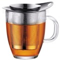 Bodum NEW YO-YO SET Glastasse mit Edelstahlfilter 0,35 l glänzend