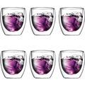 Bodum PAVINA Glas doppelwandig 0.25L - 6er Set
