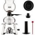 Bodum PEBO Vakuum Kaffeebereiter, 8 Tassen, 1.0 l mit Gasbrenner und Accessoires glänzend