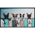 Bönninghoff Dekorative Wandgarderobe mit 3 Doppelhaken, Hunde