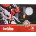 Bolsius Weihnachtsbaumkerzen 97/12,8 bx20, weiß