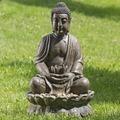 Boltze Brunnen Buddha H84cm braun