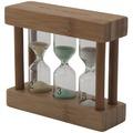 Bredemeijer heller Bambus-Teatimer 3in1 farbige Sanduhr 2, 3 & 5 min.