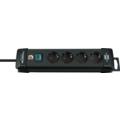 Brennenstuhl Premium-Line 4fach, 1,8m H05VV-F3G1,5 mit Schalter, Schwarz