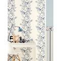 Brigitte Home Mustertapete mit Glitter, Vliestapete, floral, blau, metallic, weiss 10,05 m x 0,53 m