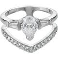 Buckley London Ring Messing rhodiniert Kristall weiß 22295 50 (15,9)
