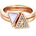 Buckley London Ring Messing vergoldet rot 9103 50 (15,9)