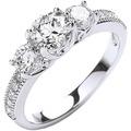 Buckley London Ring rhodiniert mit Kristallen Silbergrau 5687