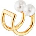 Cai Ear Cuff 925/-Sterling Silber vergoldet Perlen gelb 20881
