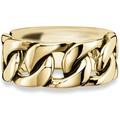 Cai Ring 925/- Sterling Silber gelb vergoldet geschwärzt  21243 58 (18,5)