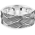 Cai Ring 925/- Sterling Silber oxidiert Wellen weiß 21263 58 (18,5)